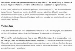 article journal Ouest-France Analyse de Dominique Chauvelier